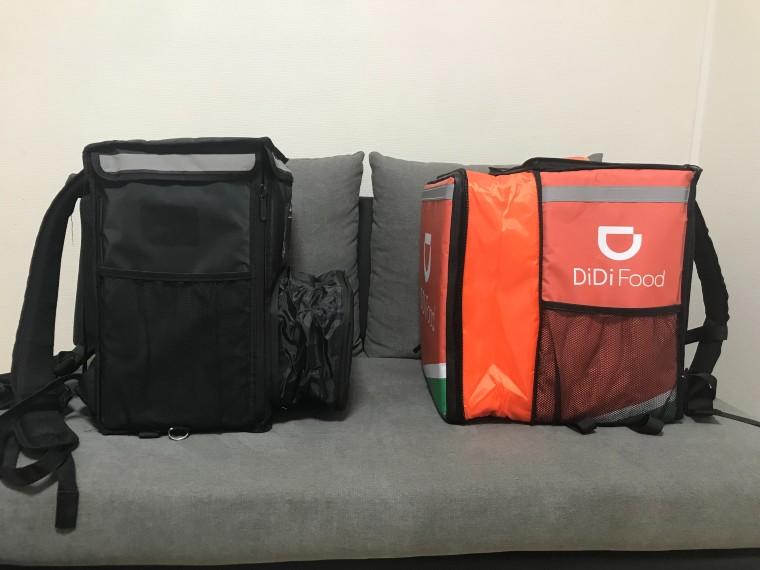 DiDiフード配達バッグ、ウーバーイーツバッグ比較参考画像1